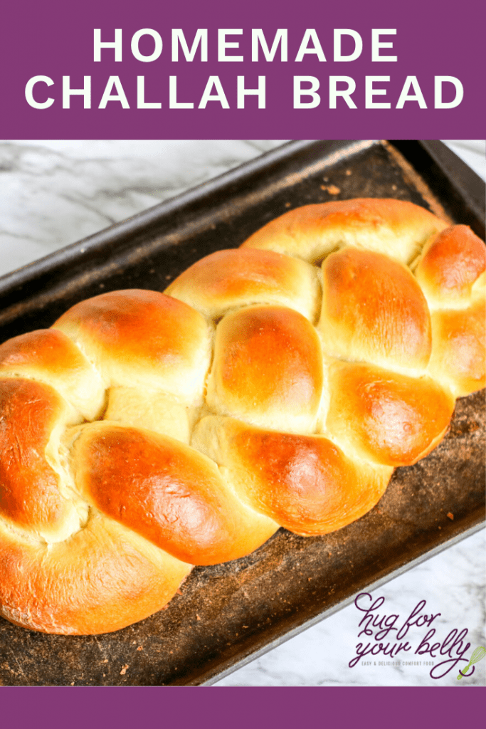 homemade braided challah bread