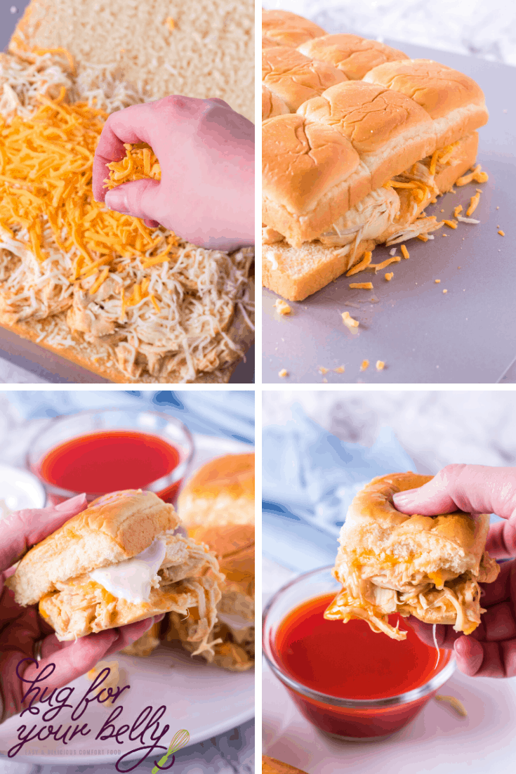 making buffalo ranch chicken sliders