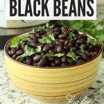 black beans in yellow bowl