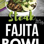 steak fajita in white bowl