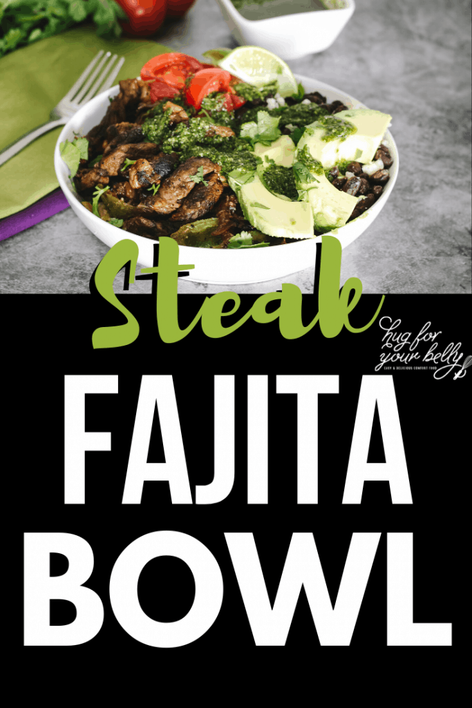 steak fajita in white bowl