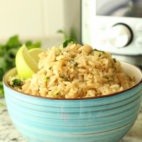 Cilantro Lime Brown Rice in the Instant Pot