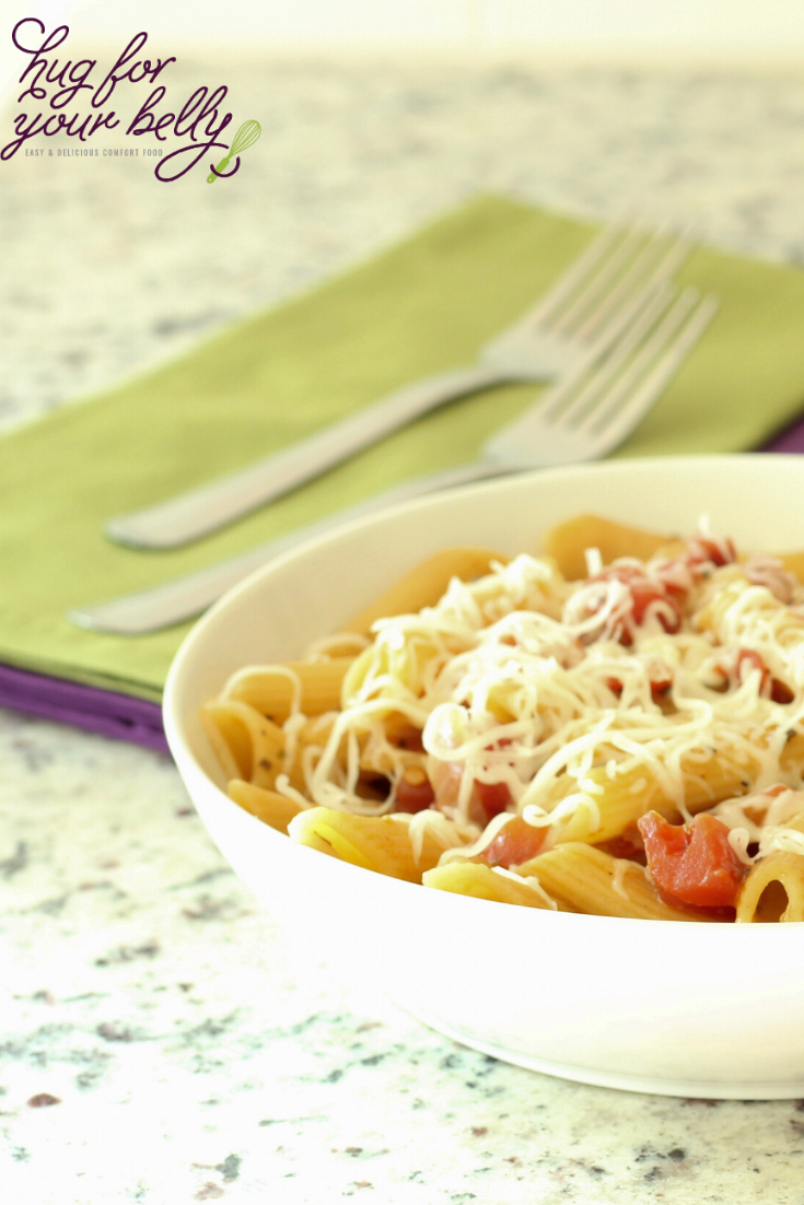 penne pasta in white bowl