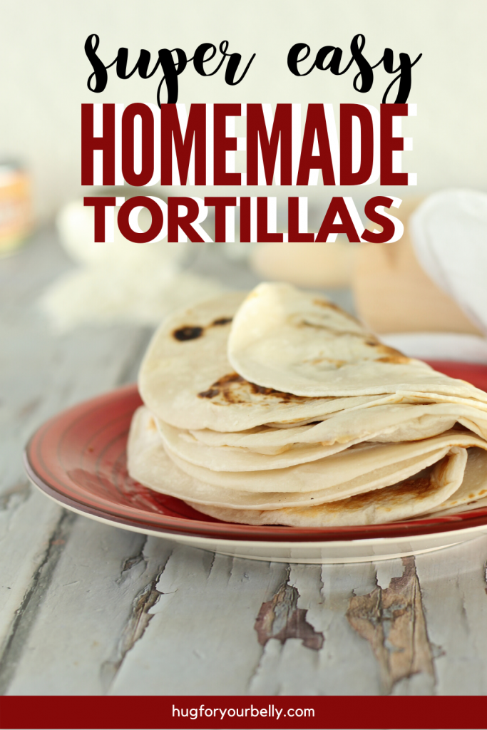 flour tortillas on red plate