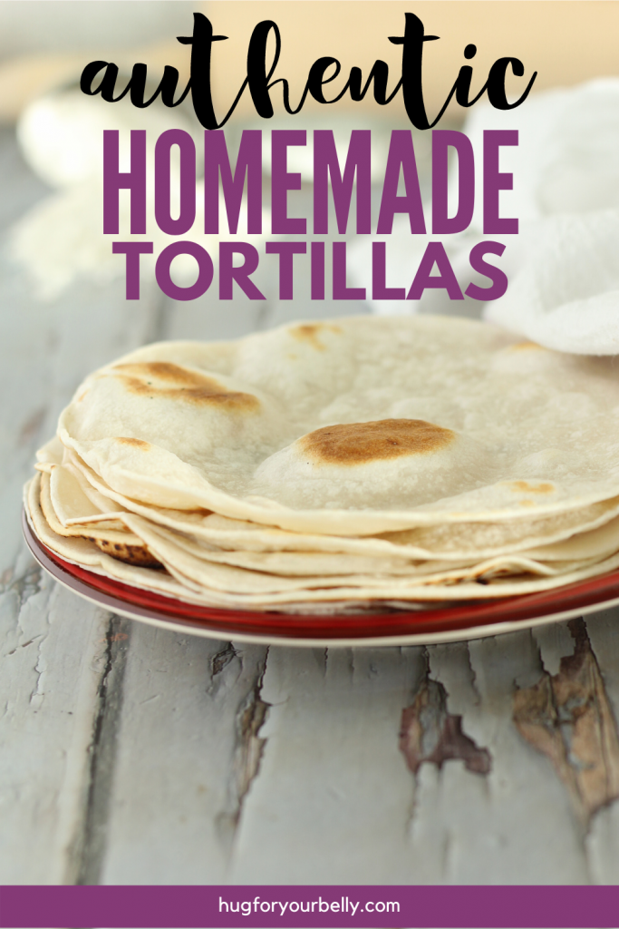 flour tortillas on plate on a wooden background