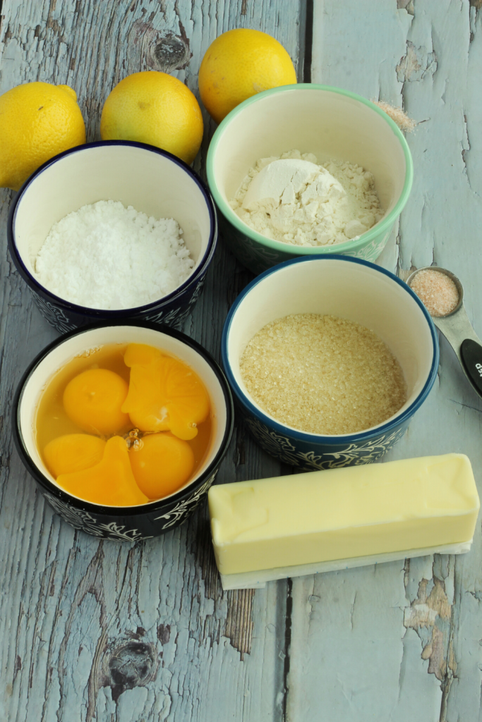 ingredients for lemon bars