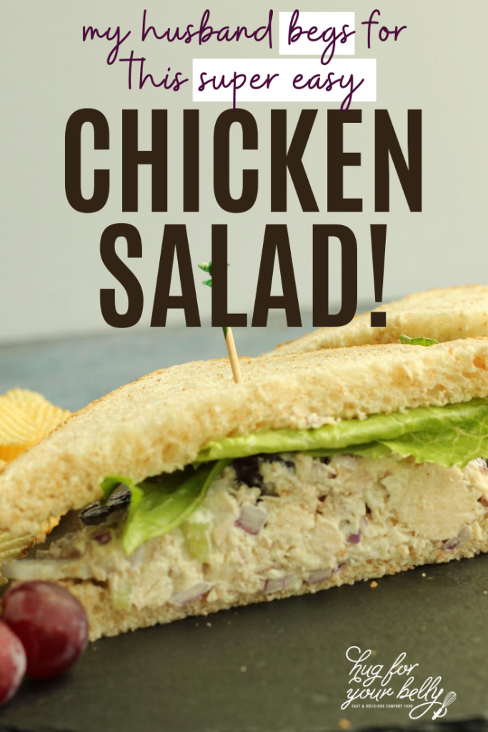 chicken salad sandwich half