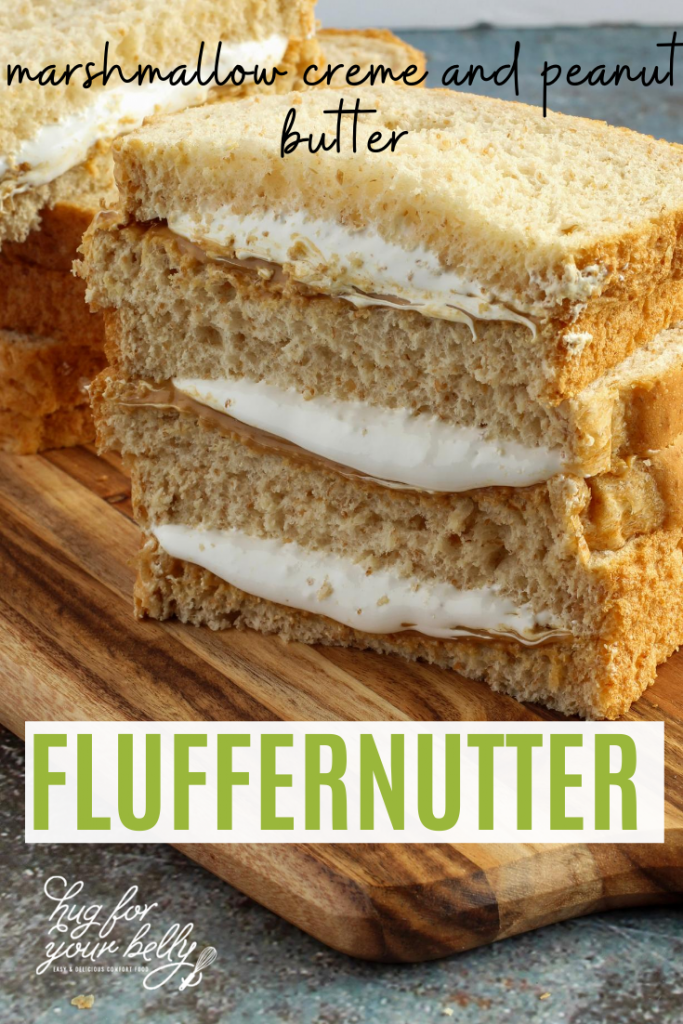 fluffernutter on wooden cutting board