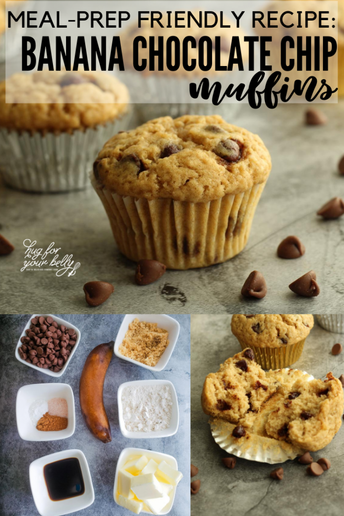 making banana chocolate chip muffins
