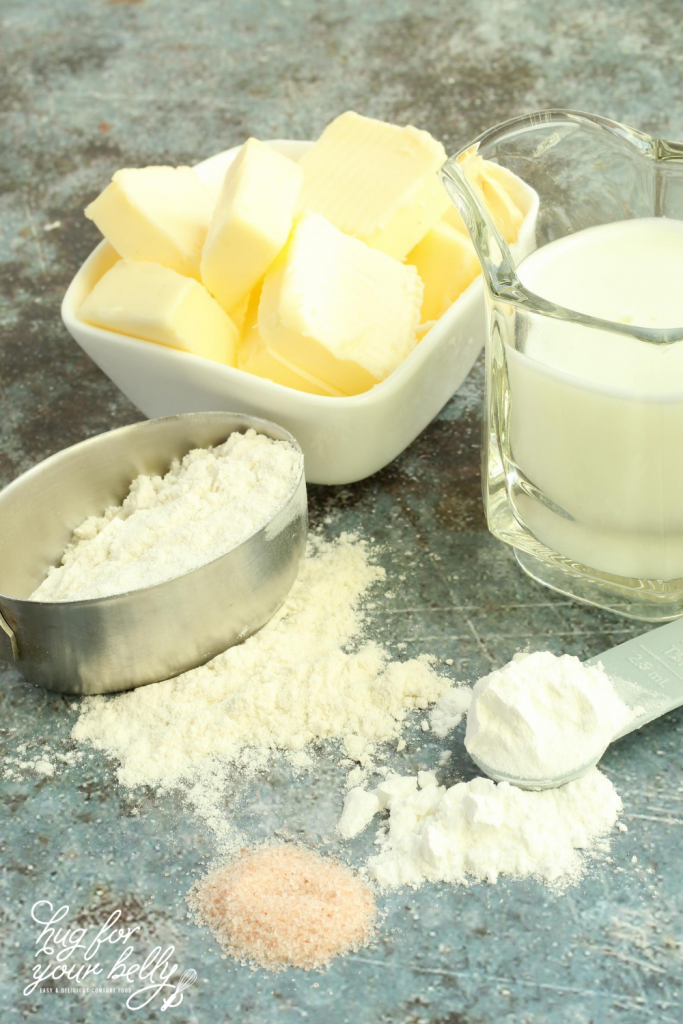 ingredients for buttermilk biscuits