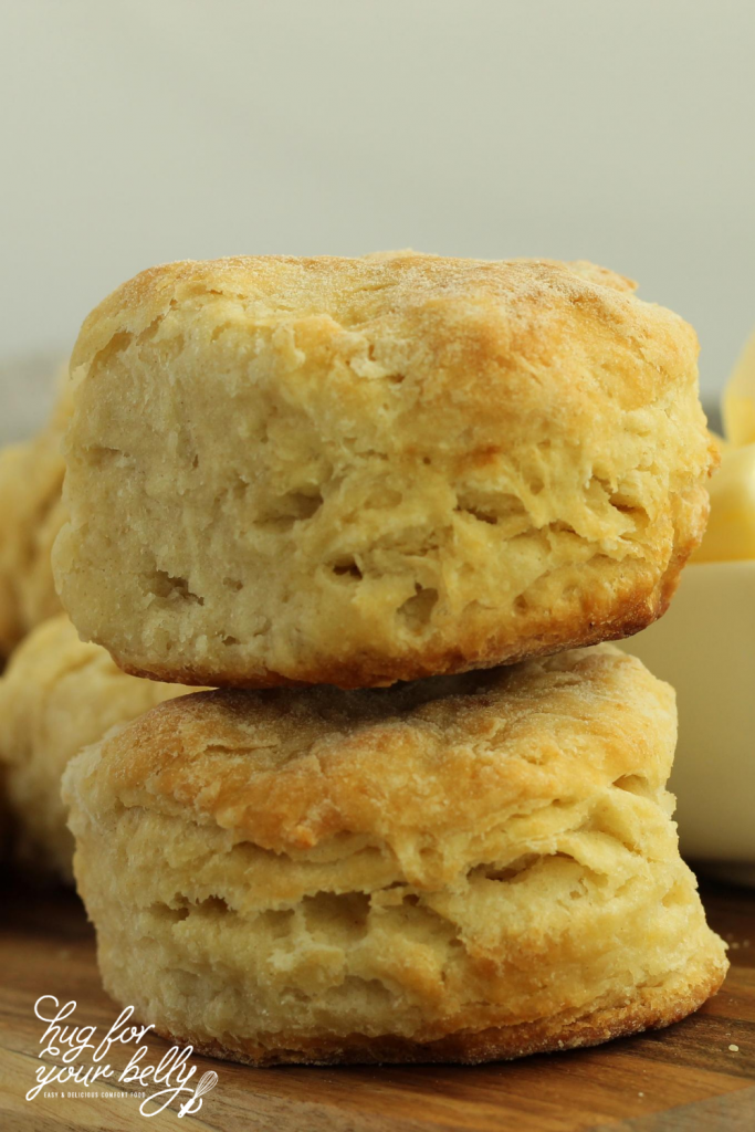 2 biscuits stacked on each other