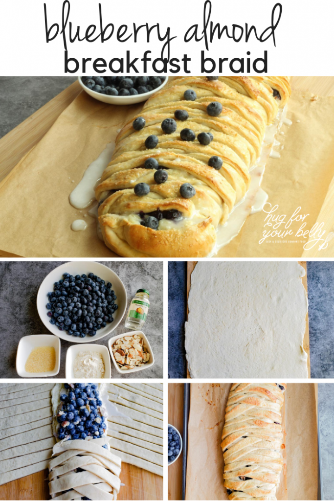 making blueberry almond breakfast braid