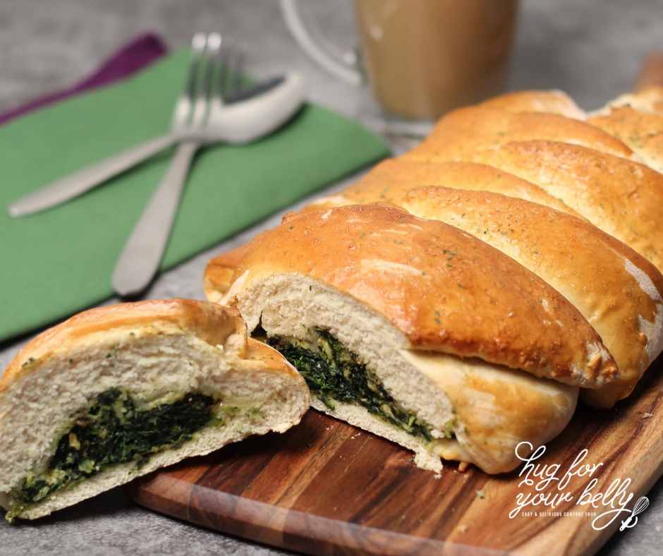 breakfast braid with spinach
