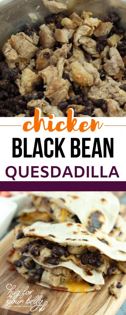 black bean chicken quesadilla