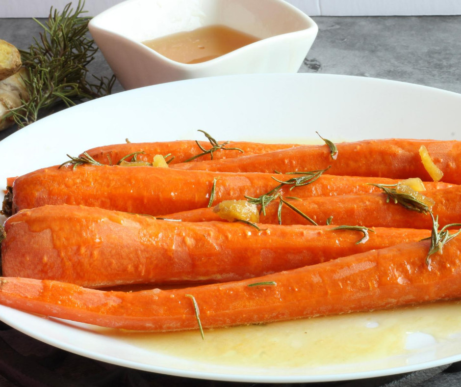 cooked carrots on white plate