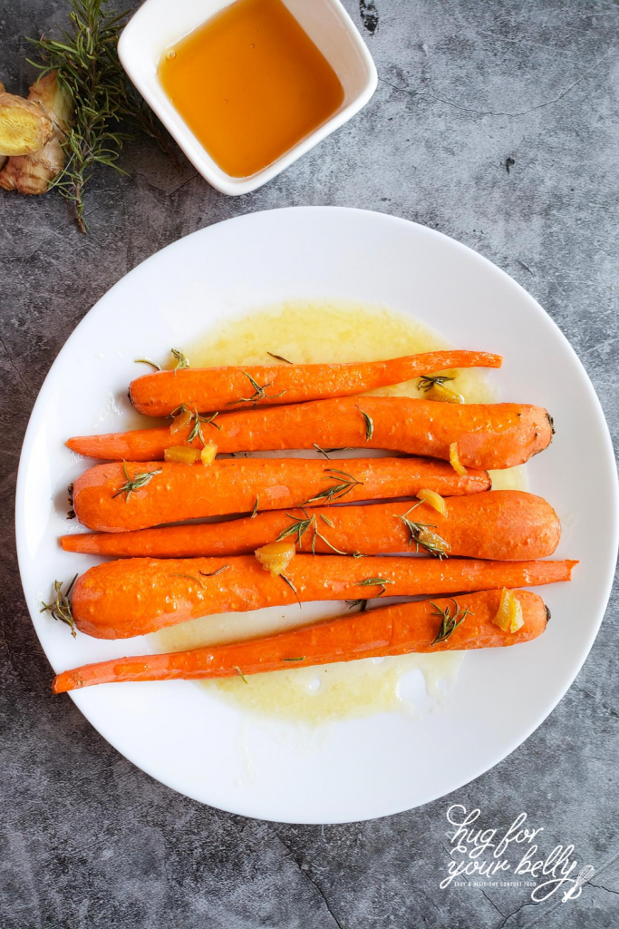carrots on white plate