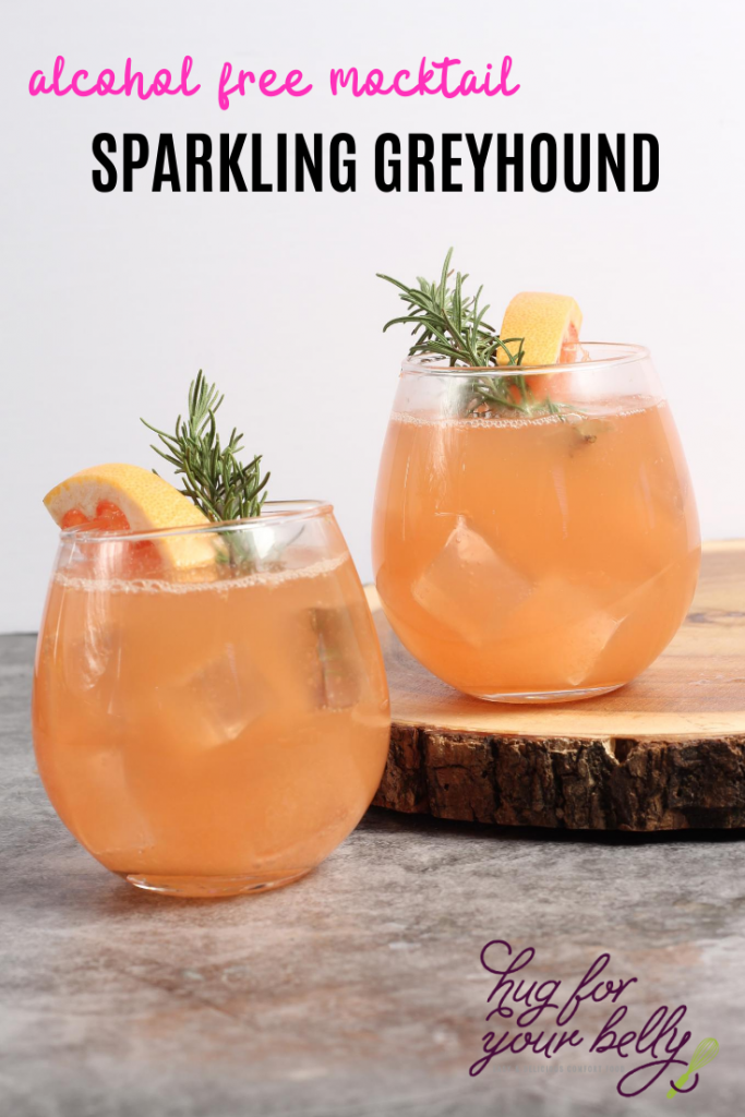 sparkling greyhound mocktail
