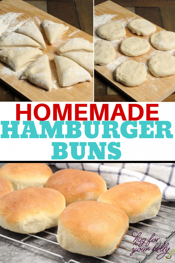 making homemade hamburger buns