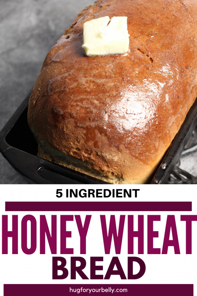 honey wheat bread with butter melting on top