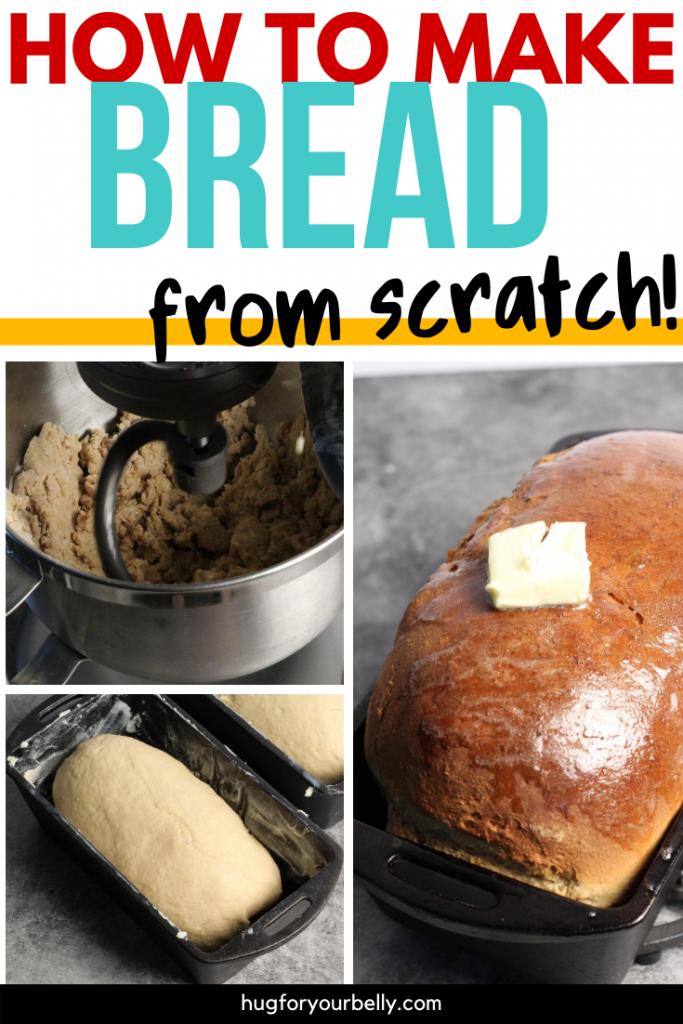 making homemade bread
