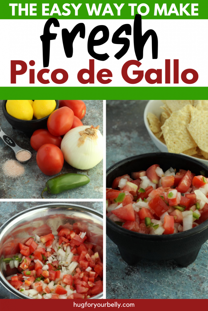 making pico de gallo