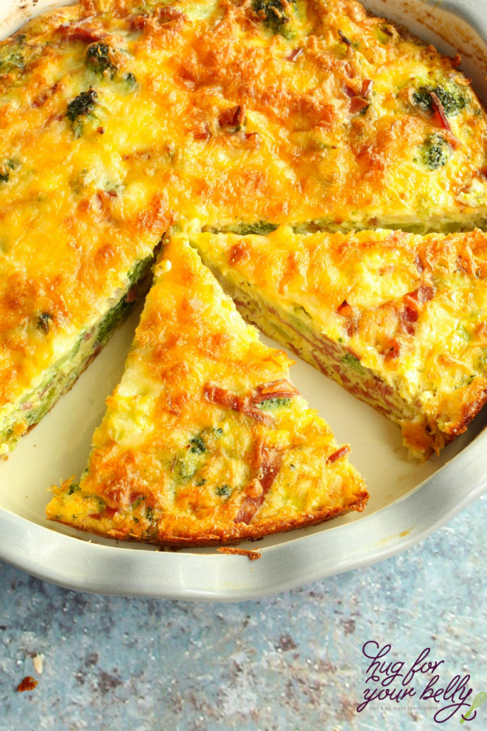 crustless quiche, holidays breakfasts with eggs