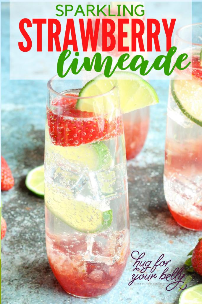 sparkling strawberry limeade