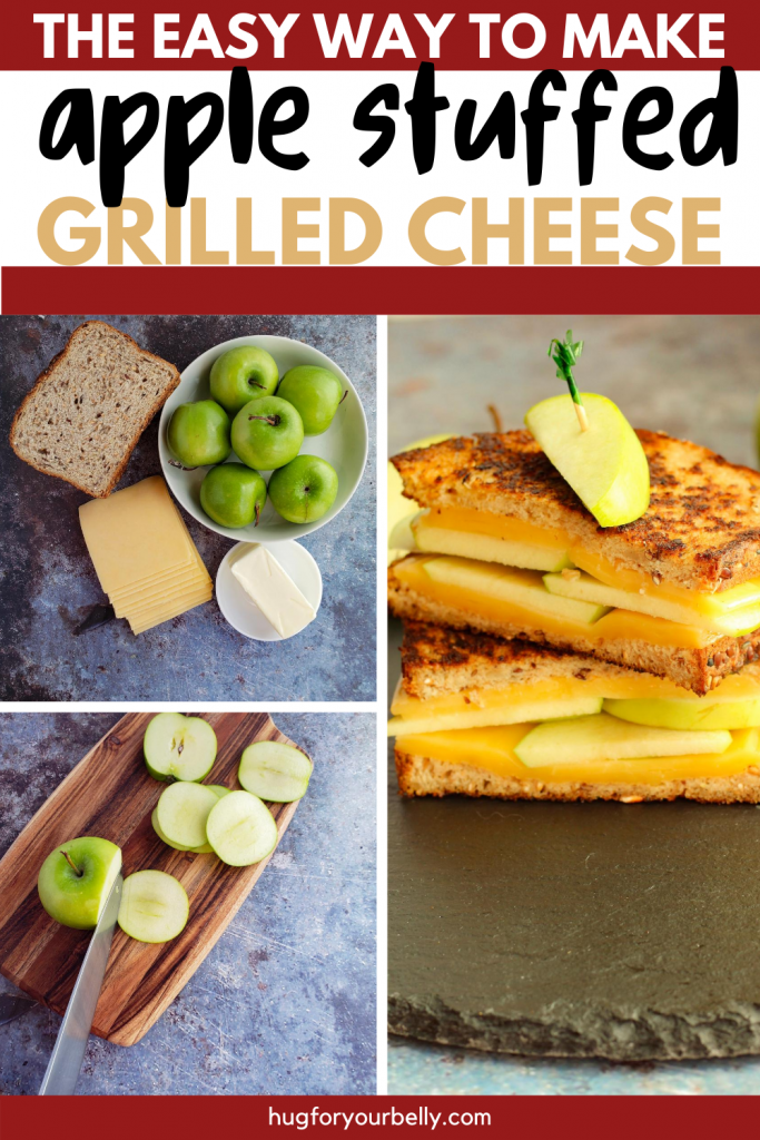 apple gouda stuffed grilled cheese