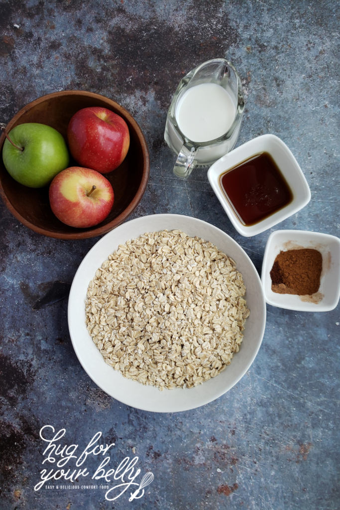 ingredients for apple pie oatmeal
