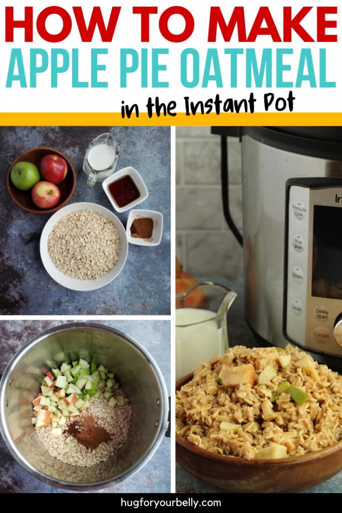 making apple pie oatmeal