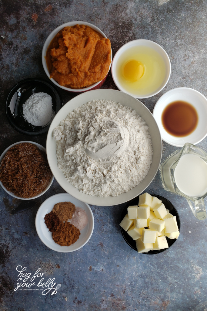 pumpkin scones ingredients