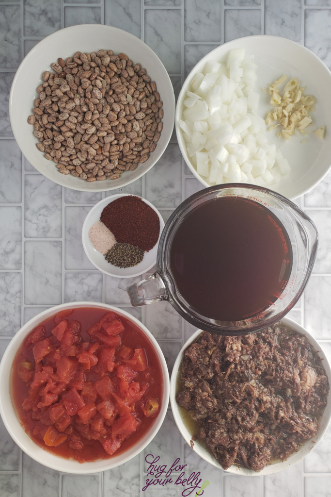 ingredients for barbacoa chili