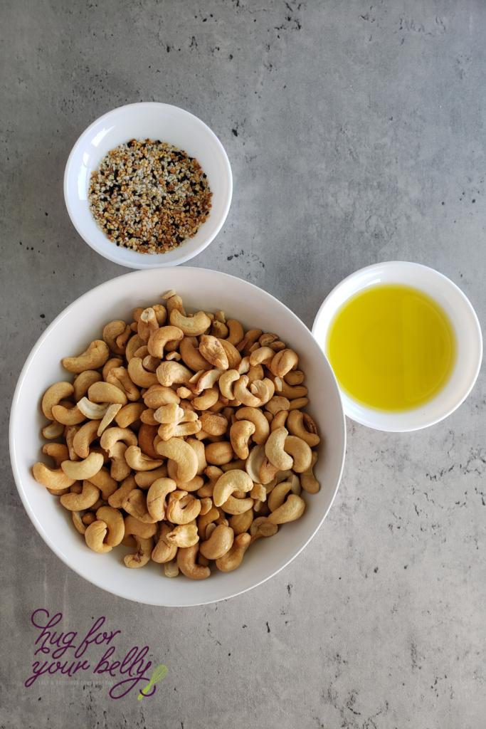 ingredients for everything bagel cashews