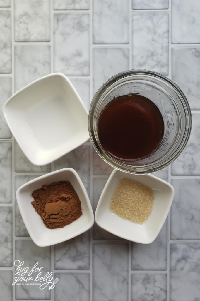 ingredients for peppermint mocha