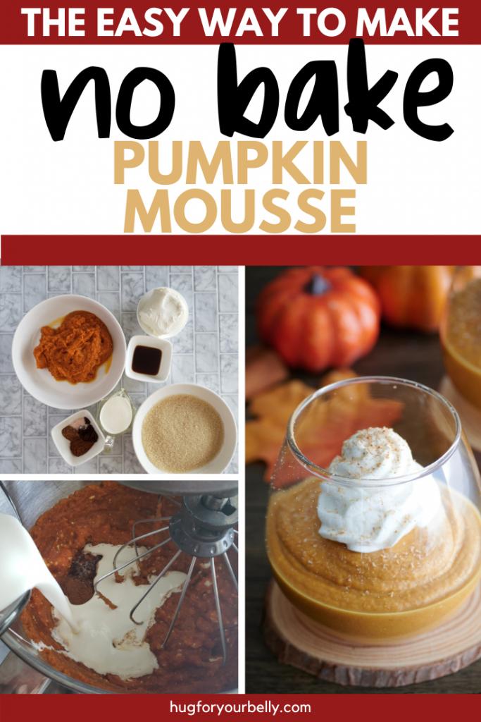 making no bake pumpkin mousse