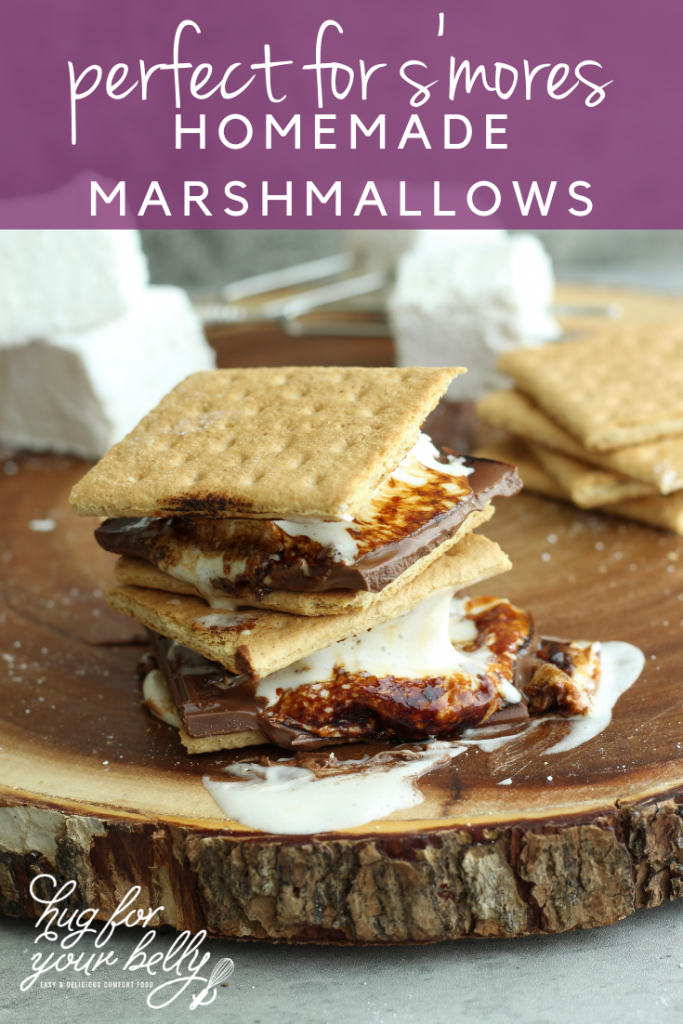 smores on wooden board