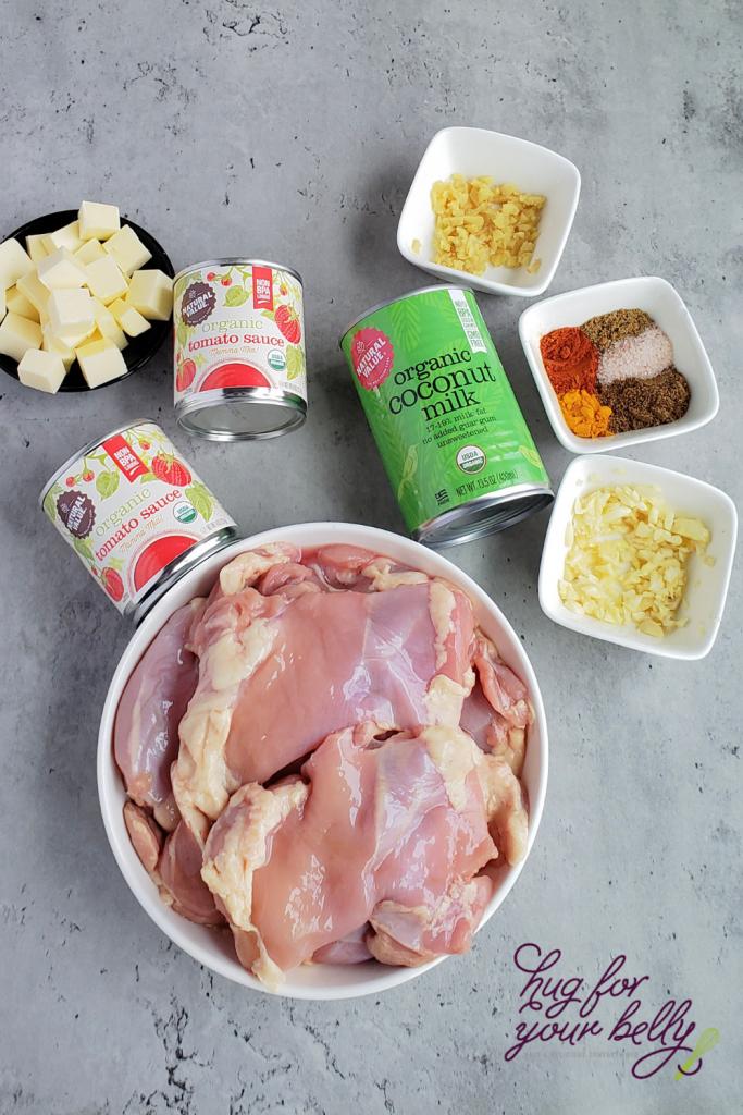 ingredients in butter chicken