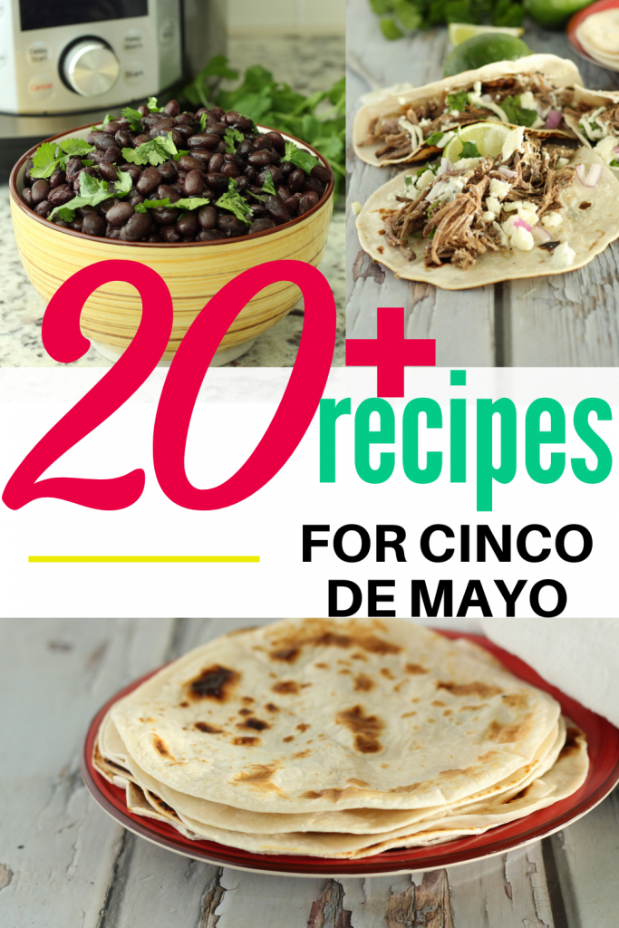 cinco de mayo recipes in a collage
