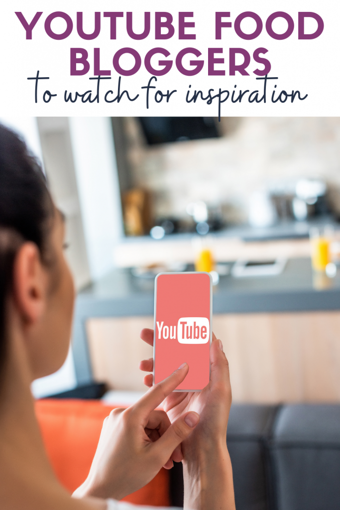 woman looking at youtube icon on phone