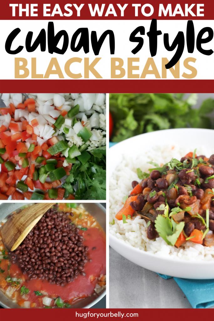 making cuban style black beans